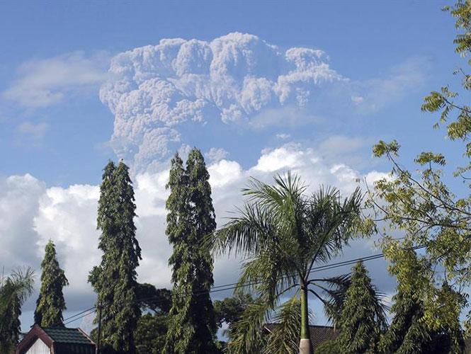 La región se encontraba en alerta desde junio del año pasado, cuando se registró un aumento de la actividad del volcán. Foto: EFE
