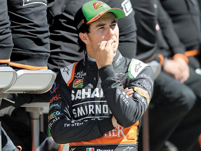 Sergio Pérez prepara la carrera en Alemania tras finalizar 11 en Gran Bretaña. Foto: AP