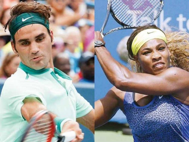 Roger Federer (der.) y Serena Williams (Izq.). Fotos: AP