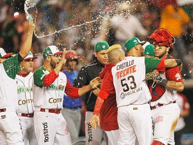 México anotó la única carrera del partido en la sexta entrada (Fotos: EFE)