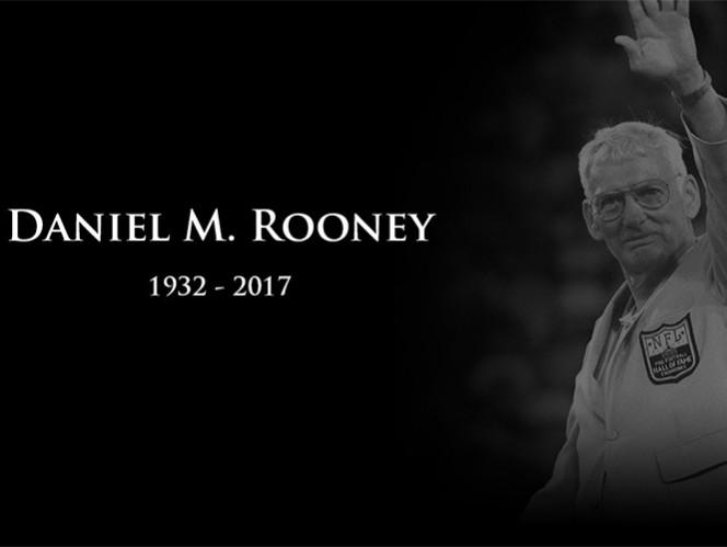 Dan Rooney, dirigente de los Steelers, muere a los 84 años
