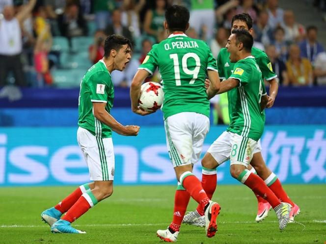 México obtuvo su primera victoria en la Copa Confederaciones de Rusia 2017. (Reuters)