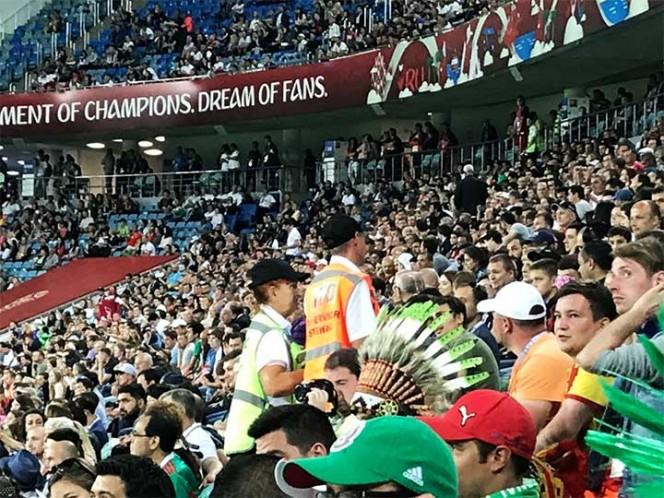 Así la FIFA detectó a mexicanos que gritaron 'eh p…' (Foto tomada de @NVPMexico)