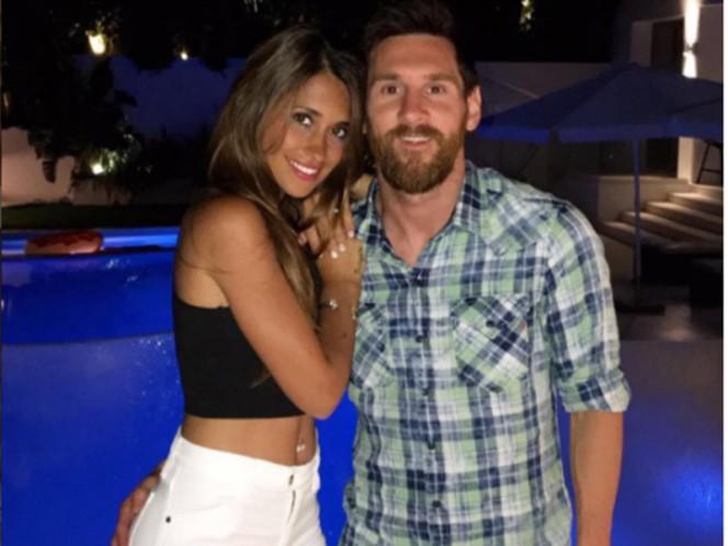 El romántico saludo de Antonella Roccuzzo a Lionel Messi