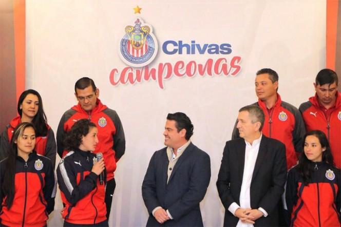 Chivas femenil recibe reconocimiento del estado de Jalisco