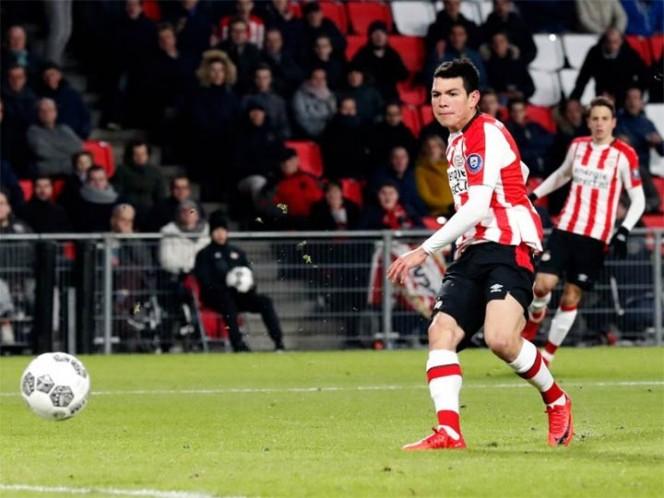 Gol valiosísimo de 'Chucky' Lozano para el PSV