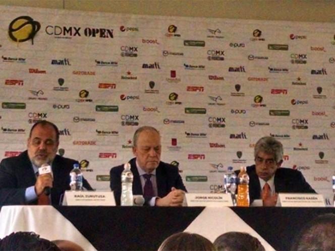 El CDMX Open, con 32 tenistas en el roster
