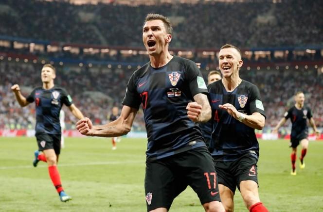 Mario Mandzukic firmó el tanto que significó el pase a la final para los croatas. (AP)