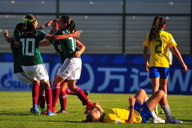 Selección femenil consigue victoria ante Brasil en el Mundial sub 17