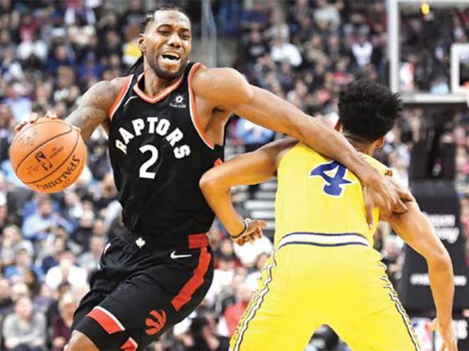 Kawhi Leonard líder ofensivo en victoria de Raptors frente a Warriors