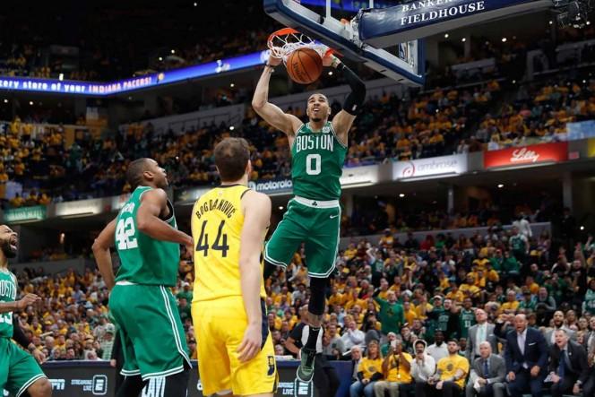 Celtics barren a los Pacers y avanzan a semifinales