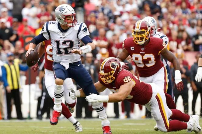 Tom Brady se aprovechó de la vulnerable defensiva de los Redskins