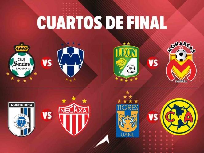 Así se jugarán los Cuartos de Final del Apertura 2019.