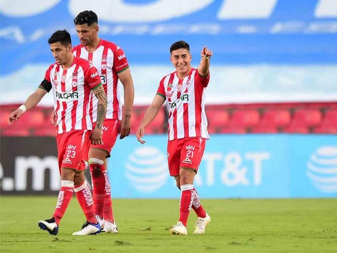 Alejandro Zendejas marcó el gol de la victoria para Necaxa. (Mexsport)