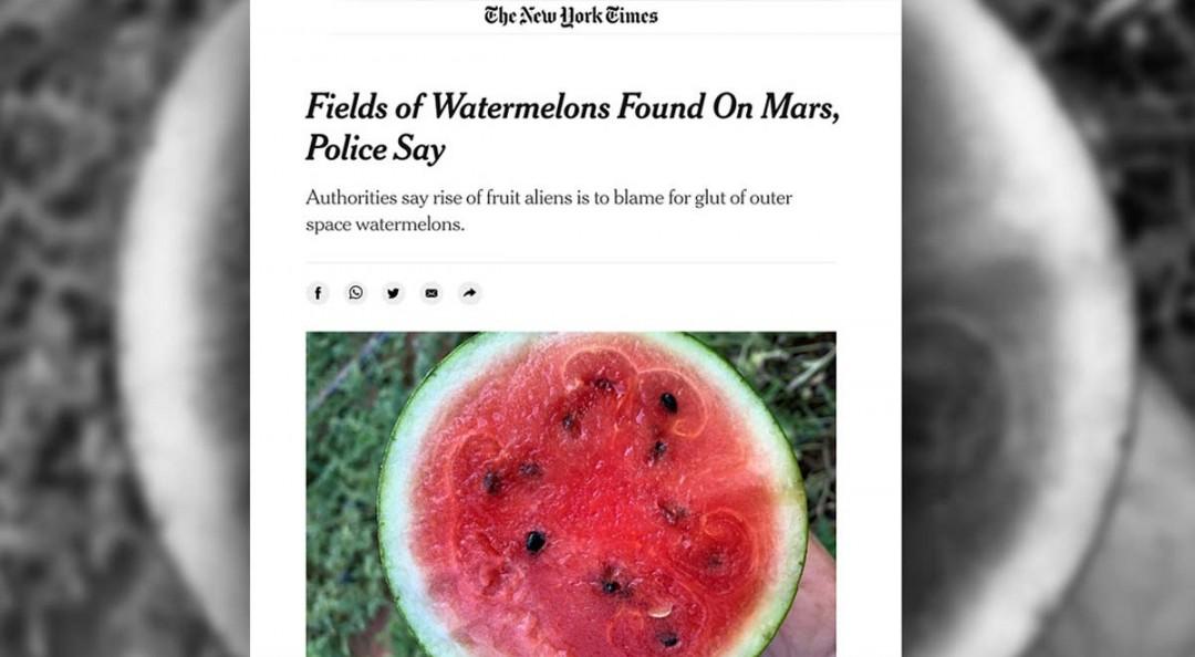 The New York Times publica que se encontraron sandías y kiwis en Marte