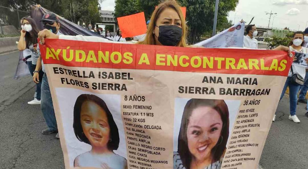 Con bloqueo, vecinos piden apoyo para hallar a Ana María y su hija Estrellita