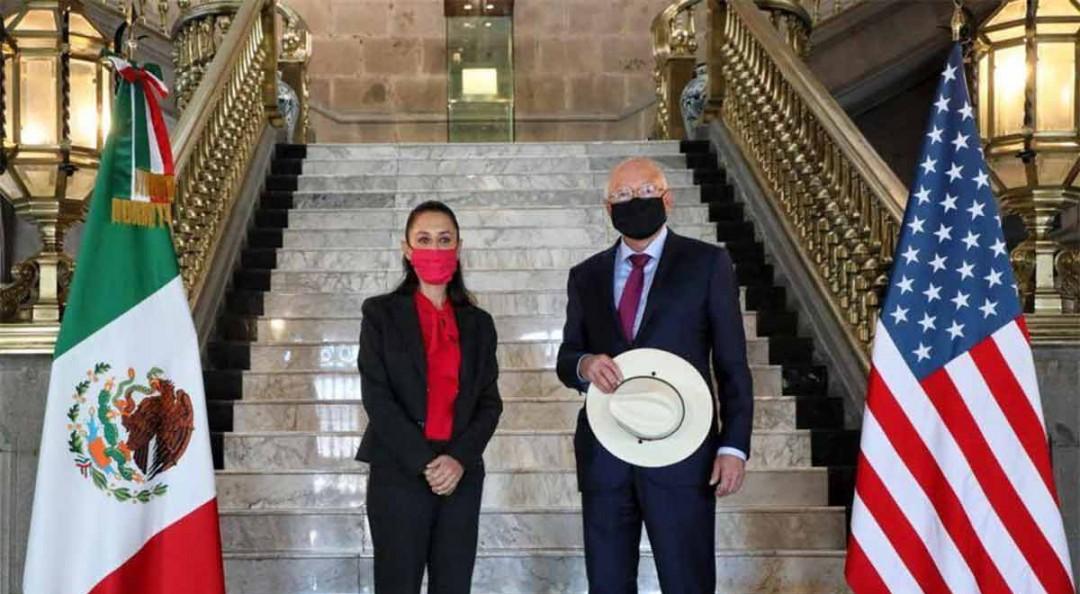 Claudia Sheinbaum se reúne con Ken Salazar, embajador de EU en México