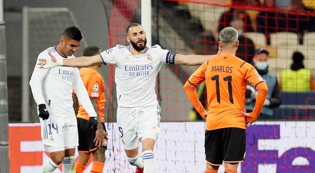 Real Madrid se reivindica en Champions con goleada