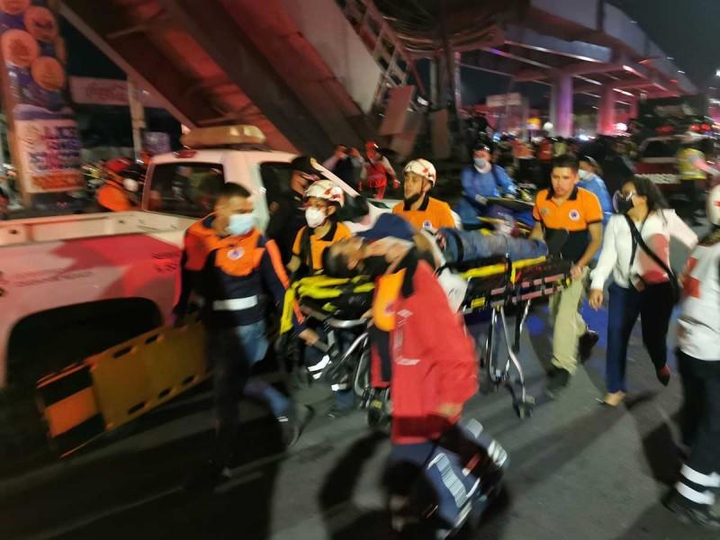 Exigen 6.4 millones de pesos por cada víctima de Línea 12 del Metro