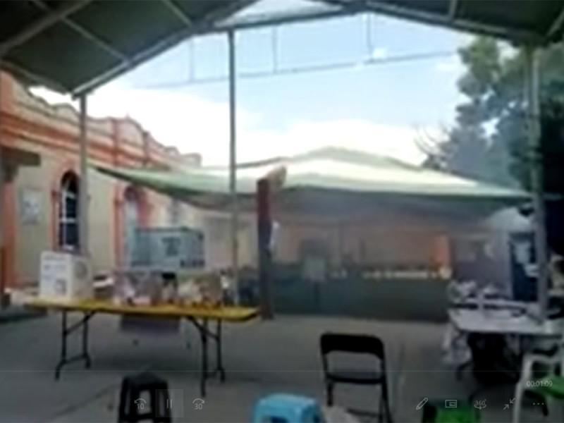 Arrojan gas lacrimógeno en casilla de Hidalgo; desalojan centro de votación