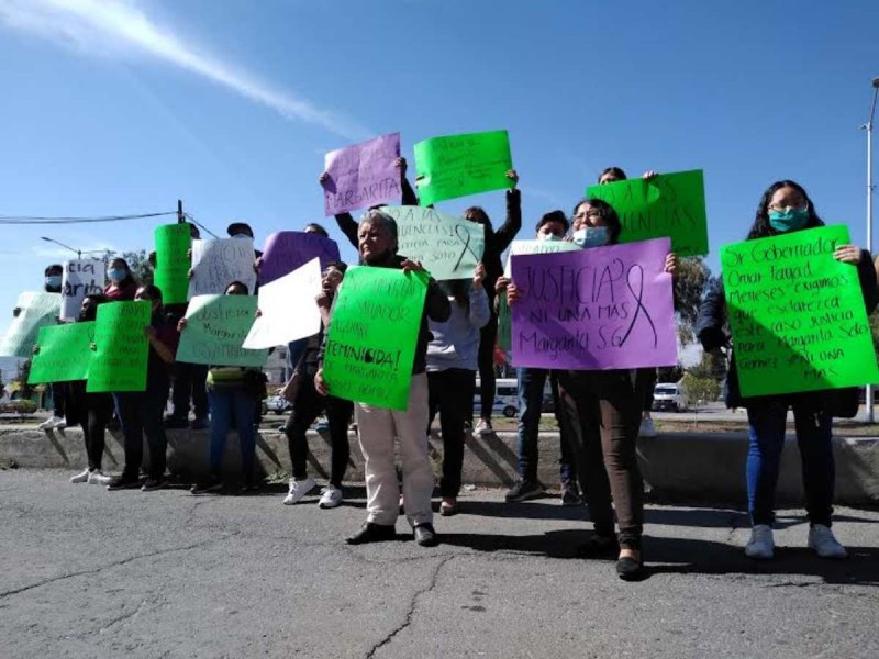 'Ni una Margarita más', claman justicia por feminicidio en Pachuca