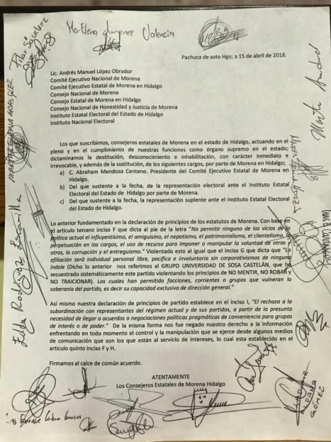 unnamed - Morena se quiebra en Hidalgo: remueven a su dirigente estatal