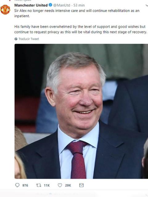 Alex Ferguson, cuidados intensivos, Ferguson, Manchester United