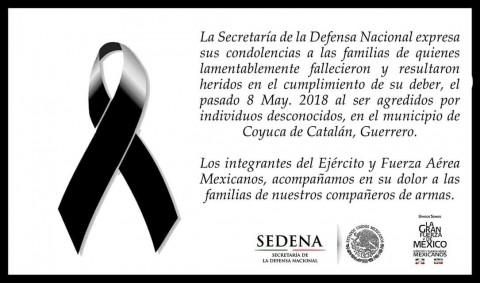 Militares asesinados, Grupo armado, Seguridad, Justicia, Sedena, Guerrero, Rancho