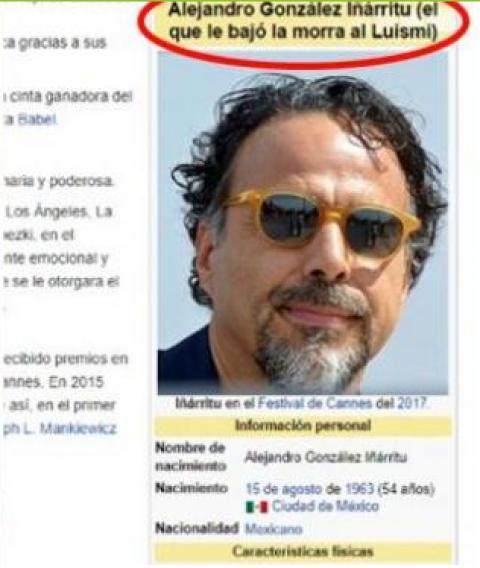 Un usuario bromista editó la publicación de Wikipedia.