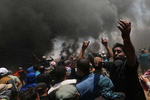 Inaugura EU embajada en Jerusalén en medio de un baño de sangre en Gaza