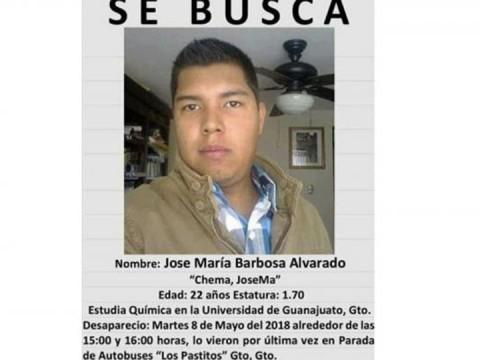 José María Barbosa desapareció el pasado 8 de mayo