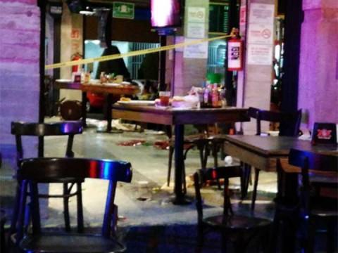 Balean a pareja en La Cervecería de Barrio en Avenida Universidad