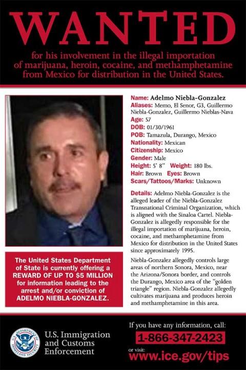 Niebla González es responsables de tráficar drogas y armas en ambos lados de la frontera