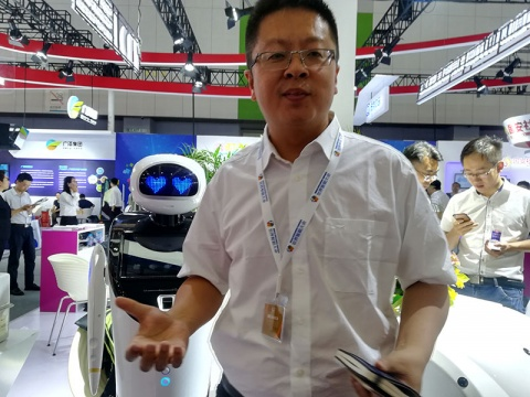 Ben Koo, CEO de la empresa iClean Robotics Intelligence (Foto: Olimpia Ávila)