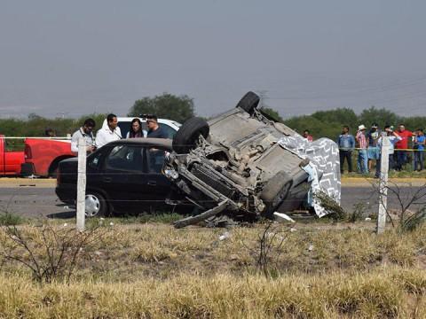 Trágico accidente deja tres muertos en Aguascalientes. Foto: Karla Méndez/ Corresponsal