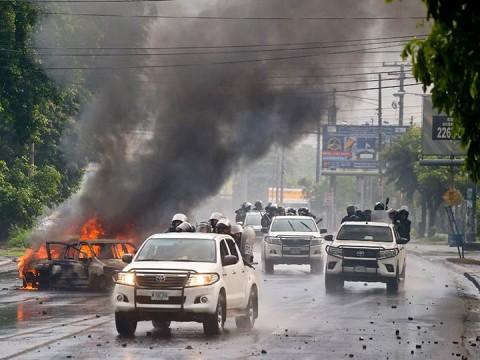 El gobierno de Nicaragua posiblemente llevó a cabo ejecuciones extrajudiciales con la participación de grupos parapoliciales, dijo Amnistía Internacional (Foto: AP)