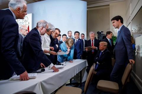 Trudeau fue deshonesto y débil: Trump. Foto: Reuters