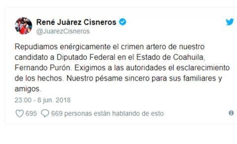 Matan a candidato del PRI en Piedras Negras, Fernando Purón
