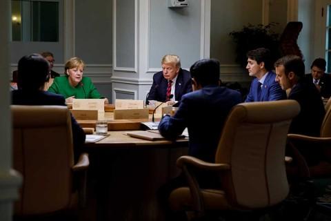 Unión Europea respalda a Trudeau en disputa con Trump