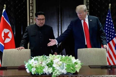 Así coquetearon Trump y Kim durante su histórica cumbre