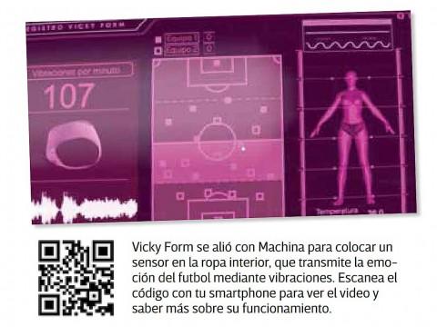 Vicky Form, Machina, Sensor, Ropa Interior, Vibraciones, App, Mundial de Rusia, Partido, Futbol, Tecnología, Mujeres
