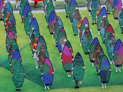 Luces y colores en el Mundial de Rusia (Foto: Reuters)