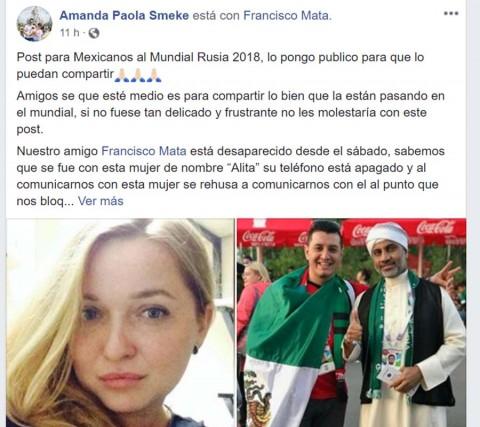 Mexicano reportado desaparecido en Rusia