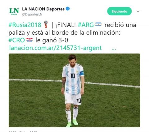 En Argentina le pegan con todo a la albiceleste