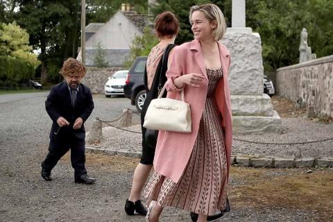 la ceremonia fueron invitados varios miembros del elenco de la serie como Peter Dinklage, Sophie Turner, Maisie Williams y Emilia Clarke. Foto: AP