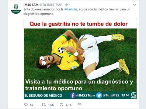 neymar, brasil, gastritis, imss tamaulipas, mundial rusia 2018, copa mundial