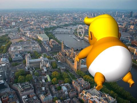 Globo con figura de Trump 'furioso' será lanzado en su visita a Londres (Foto: Twitter.com/TrumpBabyUK)