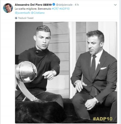 Del Piero, Real Madrid, Cristiano, Juventus,