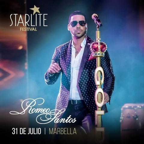 Romeo Santos en el Starlite Festival de Marbella, España