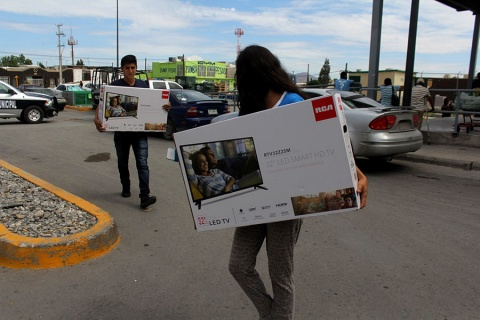 Juárez: venden televisores en 3.29 pesos